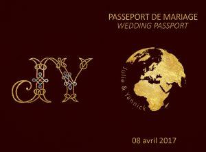 Couverture du faire-part imitation passeport