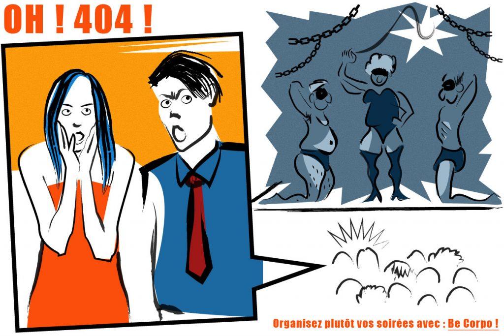 Page 404  (non retenue) du site internet Becorpo
