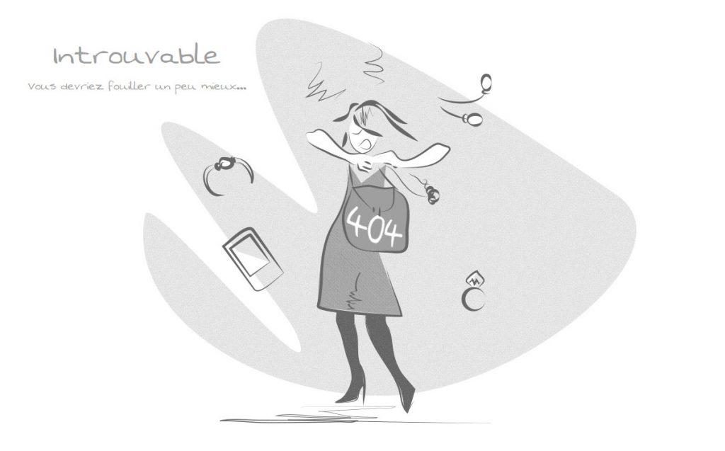 Page 404 du site internet de Déboutonnez-moi