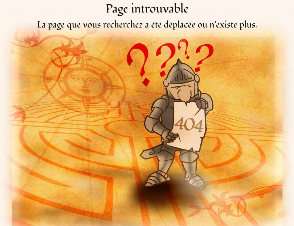 Page 404 du site internet de la Légende de Maurienne