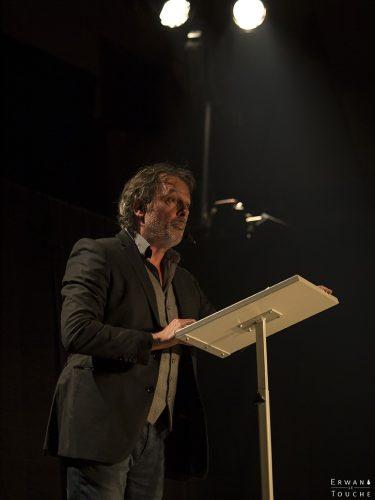 Photographie de Christophe Alévêque au festival Merci les potes