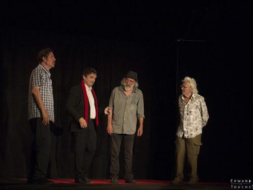 Serge Llado, Pierre Aucaigne, Daniel Gros et Patrick Font