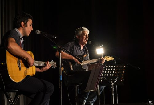 Hervé et Hugo Ferron au festival Merci les potes à Fourneaux