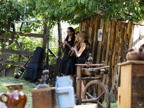 Élèves du conservatoire d'Aix les Bains et Pierrette Goueslain au festival Merci les potes à Fourneaux